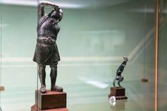 figurines etruscan dans le musée de Florence Images stock