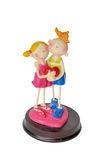Figurines with heart Royalty Free Stock Image