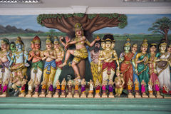 Figurines in a Hinduism temple. Royalty Free Stock Photo