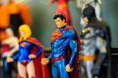 Figurines iconiques de superhéros Photo libre de droits