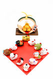 Figurines of 12 including the year of the Monkey. Royalty Free Stock Photos