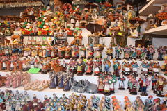 Figurines for the Italian Presepe. In Rome Royalty Free Stock Image