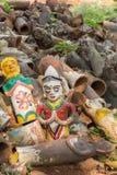 Figurines jetées au tombeau de cheval de Kothamangalam Image libre de droits