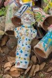 Figurines jetées au tombeau de cheval de Kothamangalam Images libres de droits