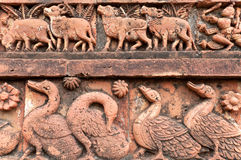 Figurines made of terracotta, Bishnupur , India Royalty Free Stock Photo