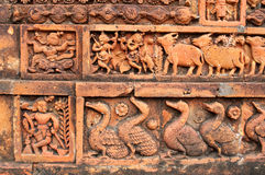 Figurines made of terracotta, Bishnupur , India Royalty Free Stock Images