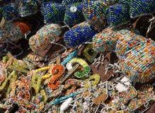 Figurines perlées africaines Photographie stock libre de droits