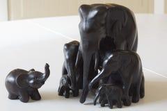Figurines peu communes des éléphants Photos libres de droits