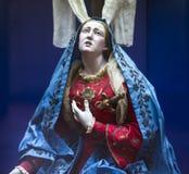 Figurines in San Lorenzo Maggiore church, Naples, Italy Royalty Free Stock Photos