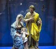 Figurines in San Lorenzo Maggiore church, Naples, Italy Royalty Free Stock Photo