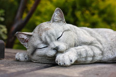 Figurines - sleeping cat Royalty Free Stock Images