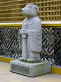 Figurines. Standing near a Buddhist temple as a watchman,guard Stock Images
