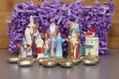 Figurines of three kings for Christmas Stock Image