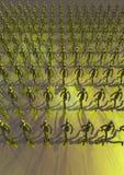 Figurines vertes   Image libre de droits