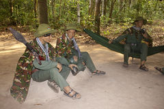 Figurines of Viet Cong warriors Royalty Free Stock Image
