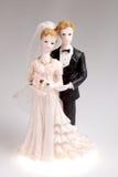 Figurines of wedding couple Royalty Free Stock Photos