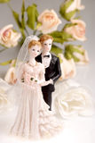 Figurines of wedding couple Royalty Free Stock Images