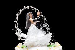 Figurines on a wedding pie Stock Photo