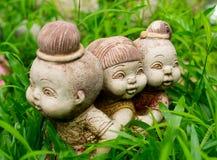 figurinesträdgård Arkivfoto