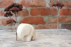 Figurka marmurowy słoń Zdjęcia Royalty Free