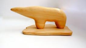 Figurka niedźwiedź polarny na lekkim tle Zdjęcia Stock