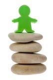figurka zielona otoczaków sterta Obrazy Royalty Free