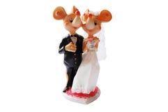figurki myszy ślub Zdjęcia Stock