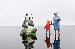 figurki retro zabawki Wartość rodzinna Zdjęcie Royalty Free