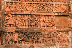 Figurki robi? terakota, Bishnupur, India Obrazy Royalty Free
