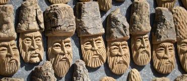 figurki zrobili drewnu Fotografia Royalty Free