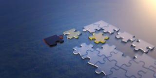 Figursågcloseup och affärsidé för sammanlänkningsanslutning Arkivbild