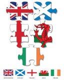 Figuurzaagvlaggen stock illustratie