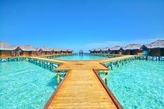 Fihalhohi ösemesterort Maldiverna Fotografering för Bildbyråer