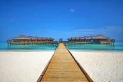 Fihalhohi ösemesterort Maldiverna Royaltyfri Fotografi