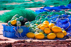 Fihing tackle in Formentera Mediterranean islands Royalty Free Stock Images