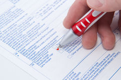 Fiil in application Stock Image