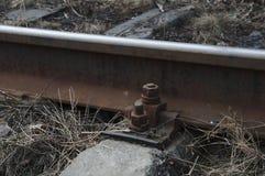 Fijación de la pista de ferrocarril Imágenes de archivo libres de regalías