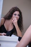 Fijación de su maquillaje Imagenes de archivo