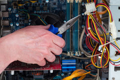Fijación del ordenador Fotografía de archivo libre de regalías