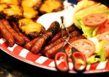 Fijaciones para un cookout del verano fotos de archivo libres de regalías