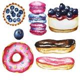Fijado con los dulces stock de ilustración