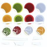 Fijar-de-vector-etiqueta-con-cocinero-sombrero-y-manzana Fotografía de archivo libre de regalías