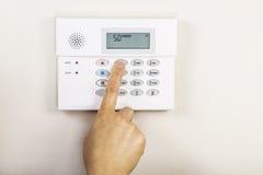 Fijar el sistema de alarma casera Fotografía de archivo