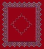 Fije étnico ornamental del marco del cuadrado Ilustración del vector Fotos de archivo