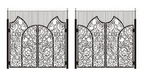 Fije 1 de puertas antiguas del hierro Imagenes de archivo