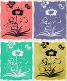 Fije 4 flores Imagen de archivo libre de regalías