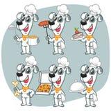 Fije al cocinero Holding Various Objects del perro de los caracteres Fotos de archivo