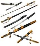 Fije con diversos tipos de espadas fotografía de archivo libre de regalías