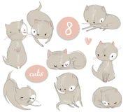Fije con el gatito lindo de la historieta libre illustration