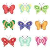 Fije con las mariposas Foto de archivo libre de regalías